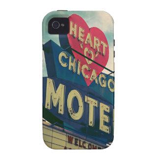 Corazón del caso del iPhone del motel de Chicago iPhone 4 Carcasa