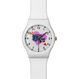 Corazón del ccsme relojes de pulsera
