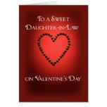 Corazón del chocolate de la tarjeta del día de San