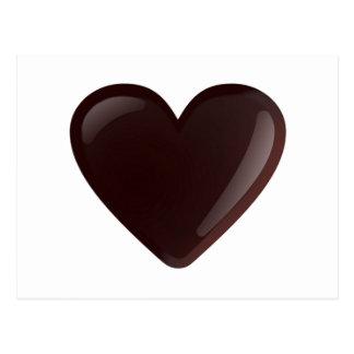 Corazón del chocolate tarjetas postales