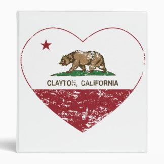 """corazón del clayton de la bandera de California Carpeta 1"""""""