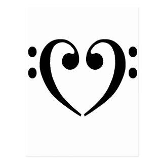 Corazón del Clef bajo Tarjeta Postal