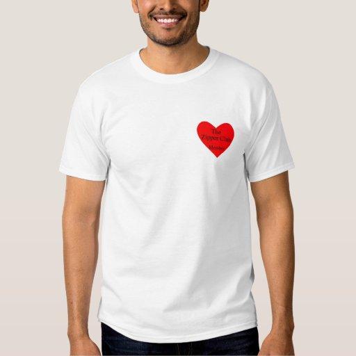 corazón del club de la cremallera remera