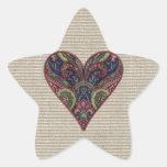 Corazón del collage de la tela
