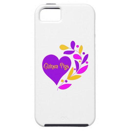 Corazón del conejillo de Indias iPhone 5 Funda