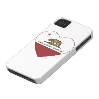 corazón del cordova del rancho de la bandera de Ca iPhone 4 Case-Mate Cobertura