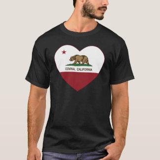 corazón del covina de la bandera de California Playera