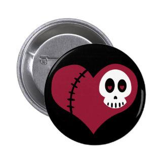 Corazón del cráneo pin
