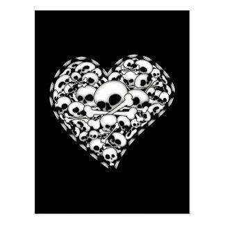 Corazón del cráneo postal