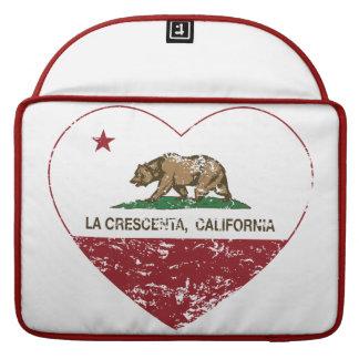 corazón del crescenta del la de la bandera de Cali Fundas Para Macbooks