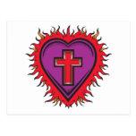 Corazón del cristiano postal