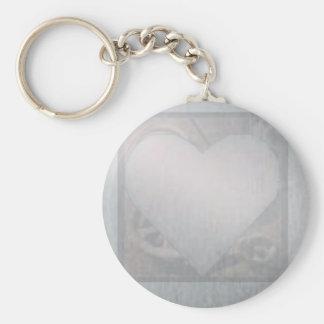 Corazón del cromo llavero redondo tipo pin