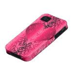 corazón del damasco Case-Mate iPhone 4 carcasas