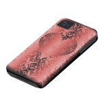 corazón del damasco Case-Mate iPhone 4 protectores