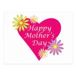 Corazón del día de madre postal