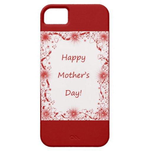 Corazón del día de madre y frontera felices del co iPhone 5 funda