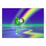 Corazón del día de St Patrick mágico Tarjetón