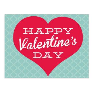 Corazón del día de Valentin feliz Tarjeta Postal