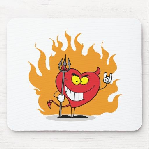Corazón del diablo alfombrilla de ratón