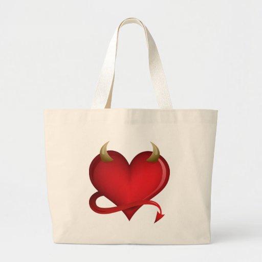 Corazón del diablo bolsa tela grande