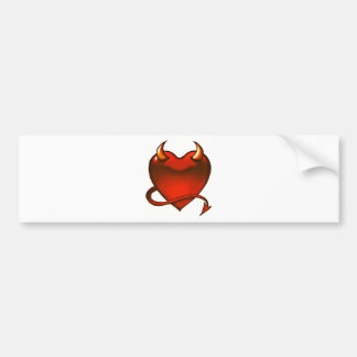 Corazón del diablo pegatina de parachoque