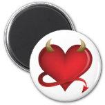 Corazón del diablo iman para frigorífico