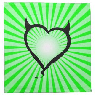 Corazón del diablo; verde servilleta