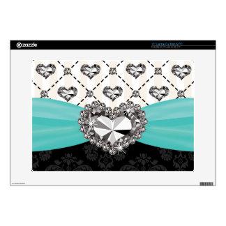 Corazón del diamante artificial del arco de la tur portátil skin