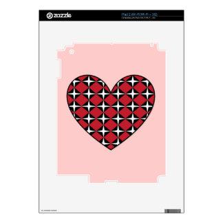 Corazón del diamante de la MOD Calcomanías Para El iPad 2