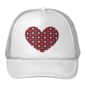 Corazón del diamante de la MOD Gorro De Camionero