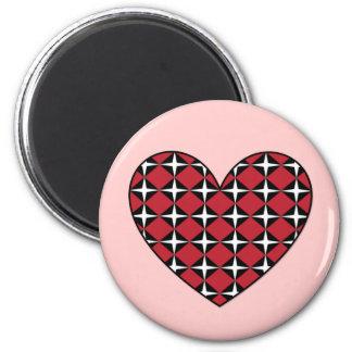 Corazón del diamante de la MOD Imán Redondo 5 Cm