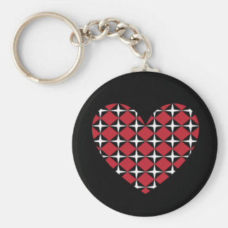 Corazón del diamante de la MOD Llavero Redondo Tipo Pin