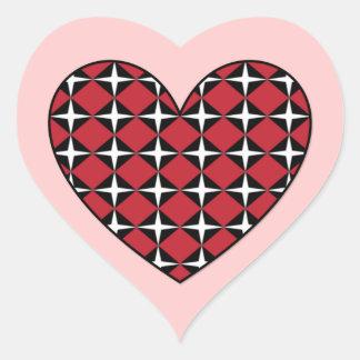 Corazón del diamante de la MOD Pegatina En Forma De Corazón