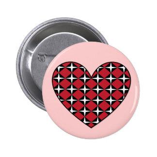 Corazón del diamante de la MOD Pin Redondo De 2 Pulgadas