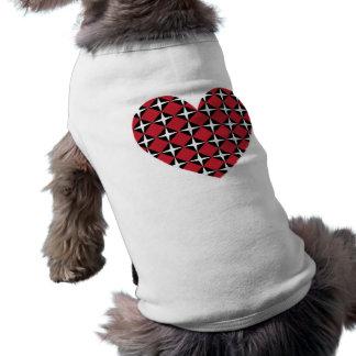 Corazón del diamante de la MOD Playera Sin Mangas Para Perro