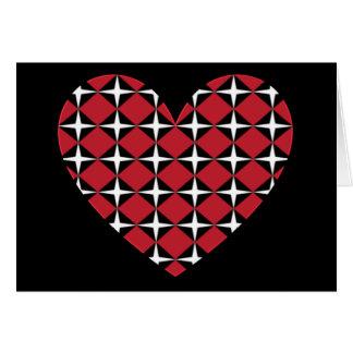 Corazón del diamante de la MOD Tarjeta De Felicitación