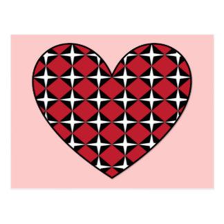 Corazón del diamante de la MOD Tarjetas Postales