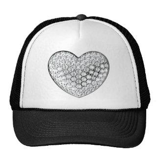 Corazón del diamante gorras