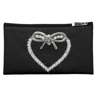 Corazón del diamante y bolso personalizados del co
