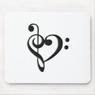 Corazón del diseño de la música alfombrillas de ratón