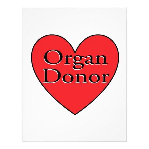 corazón del donante de órganos tarjeta publicitaria