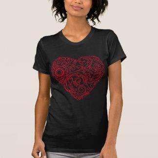 corazón del doodle camisetas