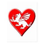 Corazón del dragón postal