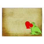 Corazón del dragón tarjeta