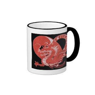 Corazón del dragón taza de dos colores