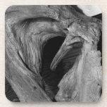 Corazón del Driftwood; Felices Navidad Posavasos De Bebida
