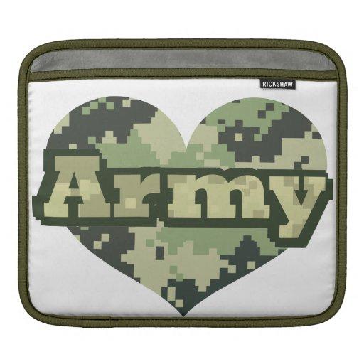 Corazón del ejército fundas para iPads