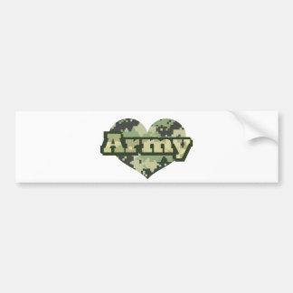 Corazón del ejército pegatina para auto