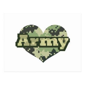 Corazón del ejército tarjetas postales