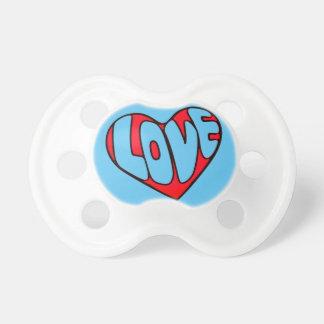 Corazón del el día de San Valentín Chupete De Bebé